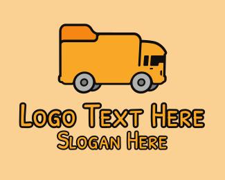 School - School Bus logo design