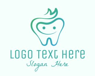 Toothpaste - Smiling Dental Tooth logo design