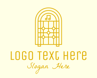 Jukebox - Golden Retro Jukebox logo design