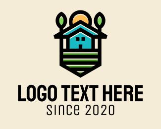 Barn - Plant Farm House  logo design