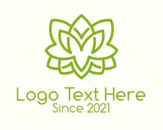 Bush - Minimalist Green Shrub logo design