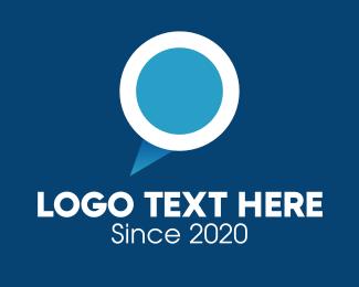 Social Media - Speech Balloon Letter O logo design