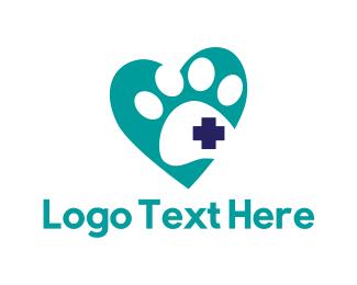 Scratch - Paw Heart logo design