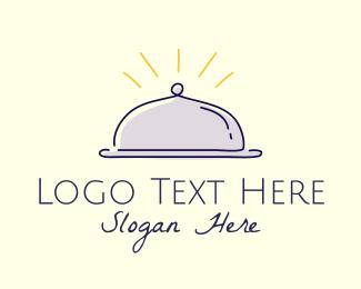 Delicious - Restaurant Food Cloche logo design