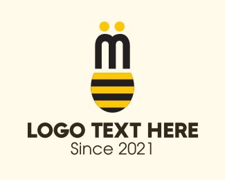 Pollen - Bee Wings logo design