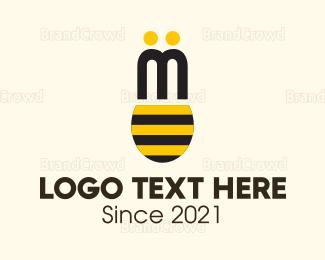 Beehive - Bee Wings logo design