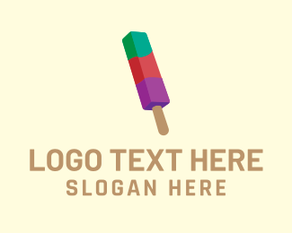 Ice Cream Shop - Colorful Popsicle logo design