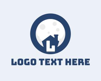 Minimalist - Moonlight House Letter  logo design