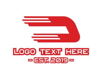 Distributor - Fast Letter D logo design