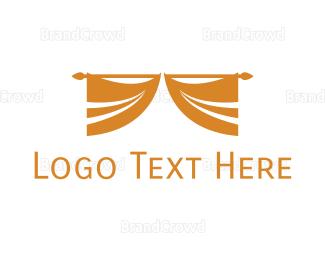 Amphitheatre - Golden Curtain logo design