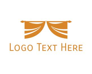Hospitality - Golden Curtain logo design