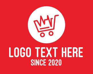 Cardiology - Red Heartbeat Shopping Cart logo design
