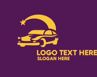 Car Racing - Night Drive Car logo design