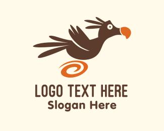 Kids Brand - Running Dodo Bird  logo design