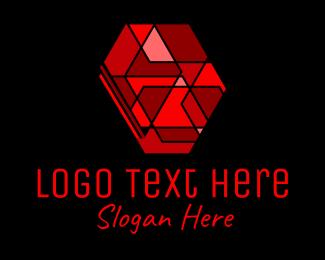 Ruby - Red Ruby Gemstone logo design