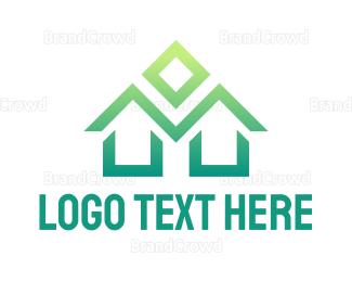 Interior Designer - Green M House logo design