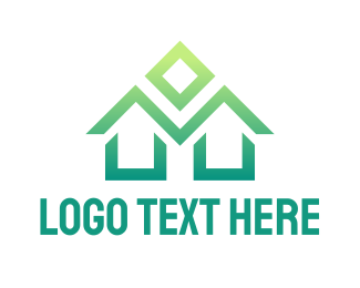School - Green House logo design