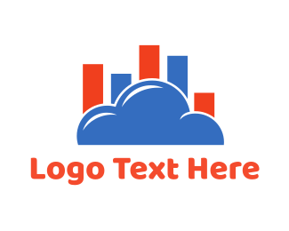 Statistic - Cloud Chart logo design