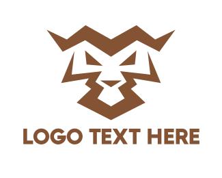 Playstation - Angry Tiger Abstract  logo design
