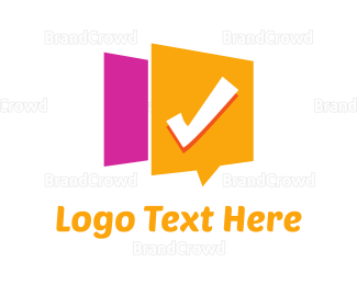 Checkbox - Checked Message logo design