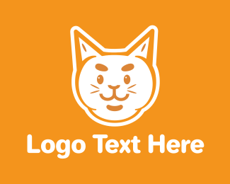 Grooming - Orange White Cat  logo design