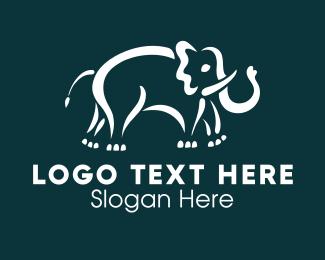 Blue Elephant - African Elephant logo design
