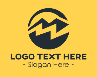 Mountain - Black Mountain Peak logo design