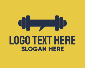 Bodybuilder -  Heavy Chat logo design