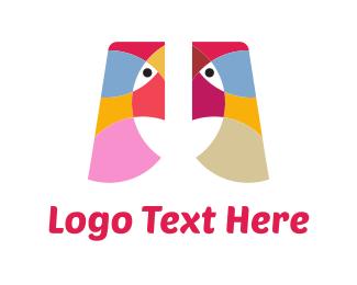 Egyptian - Two Birds logo design