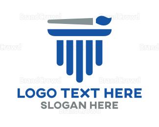 Enamel - Pillar Painting logo design