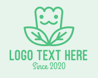 Character - Green Tulip Character logo design