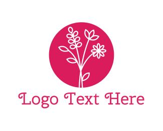 Bouquet - Pink Bouquet logo design