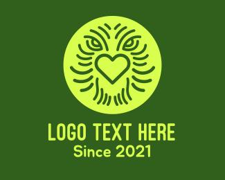 Creature - Creature Face Heart logo design