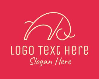 Spain - Minimalist Bull logo design