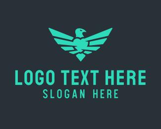 Heart - Eagle Heart logo design
