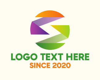 Web Development - Colorful Ribbon Balll logo design