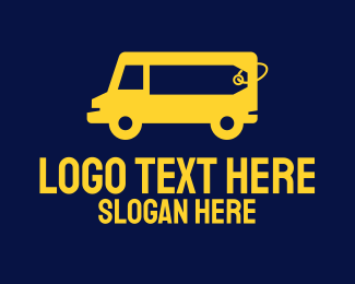 Airport Taxi - Yellow Van Rental  logo design