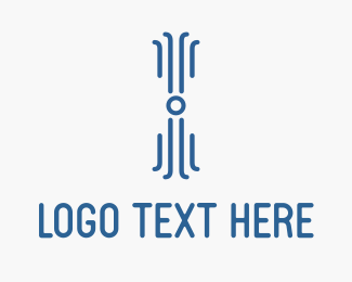 Wow - Digital Blue Octopus logo design