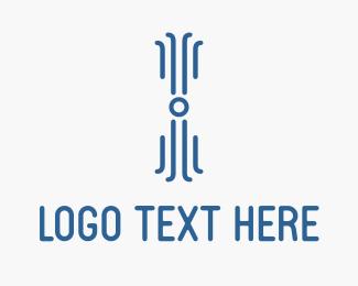 Octopus - Digital Blue Octopus logo design