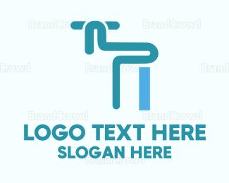 Plumb - Blue Faucet  logo design
