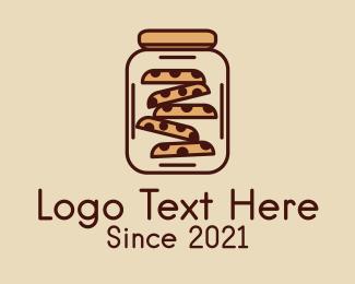 Jar - Choco Chip Cookie Jar logo design