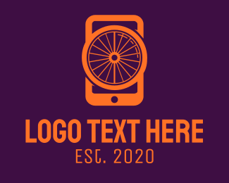 Mobile Tablet - Orange Smartphone logo design