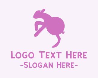 Birthday - Lamb Balloon logo design