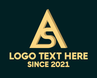 Letter A - Red Triangle & S logo design