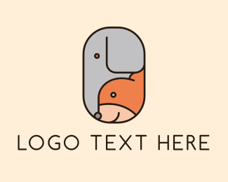 Jungle - Dog Elephant Animal logo design