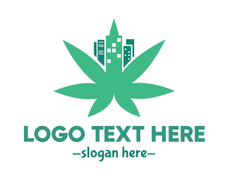 Green City - Cannabis City Leaf logo design