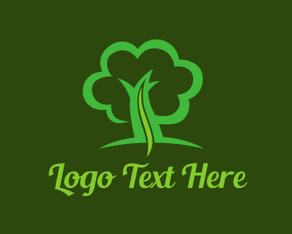 Spine - Green Tree Life logo design
