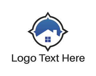 Compass - House Compass logo design