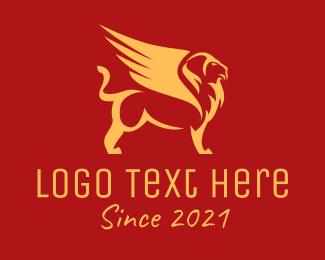 Winged Lion - Gold Griffin Firm logo design