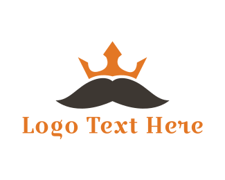 Facial Hair - Mustache King logo design